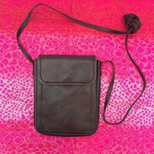 Nino Bossi Leather Crossbody Mini-Bag